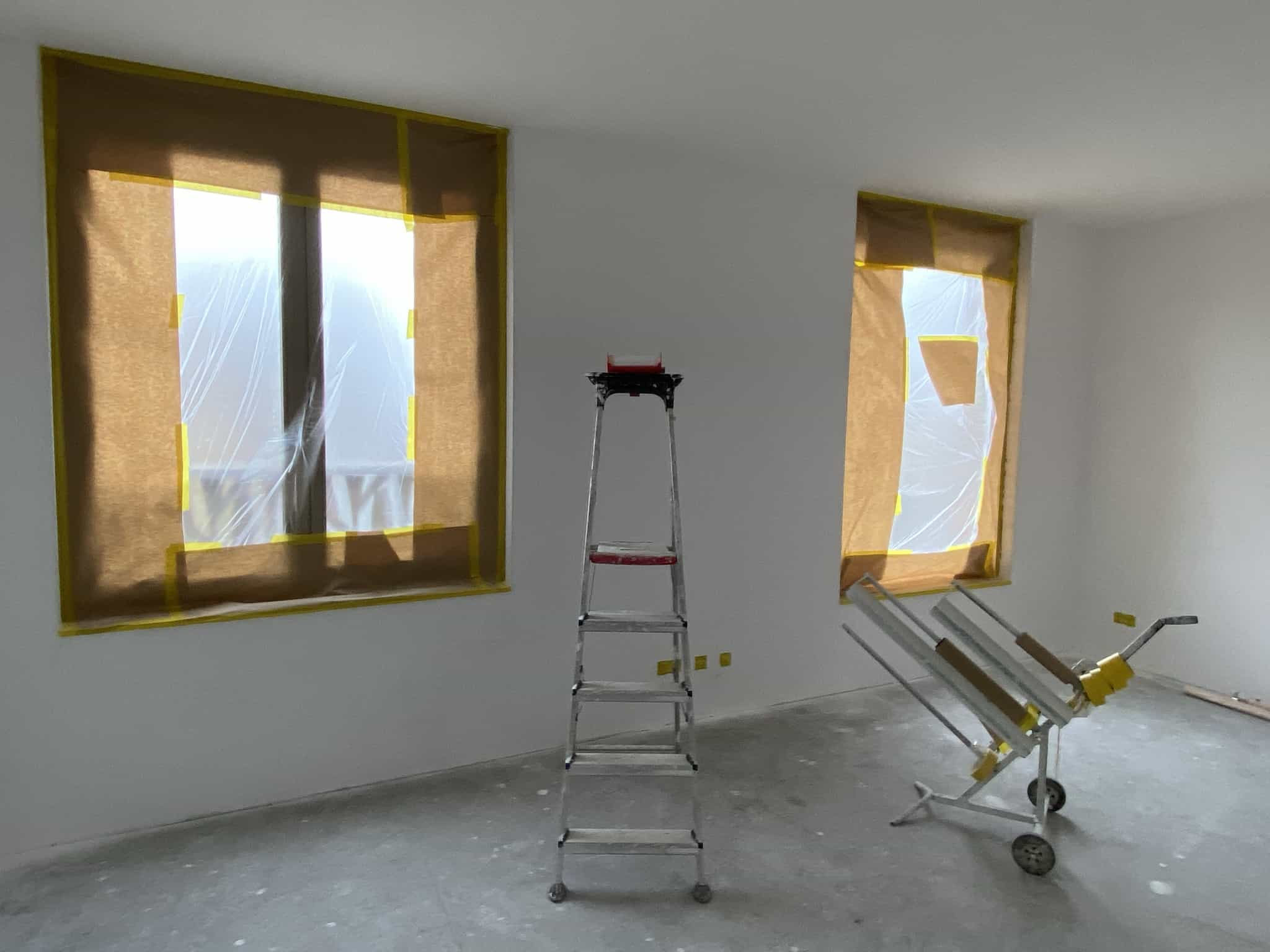 nieuwbouw woning afplakken